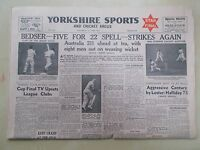 VINTAGE NEWSPAPER YORKSHIRE SPORTS & CRICKET ARGUS JUNE 13th 1953 FINAL PINK