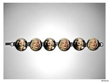 Marilyn Monroe laughing Classic Beauty 8 inch bracelet w/fold over clasp
