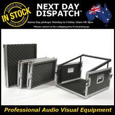 12 Unit Slant Mixer Rack Road Flight Hard Case Flightcase with 4U Amp Mount DJ