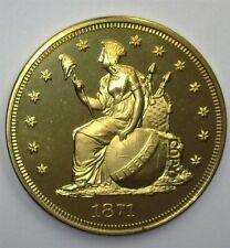 1871 (2004) INDIAN PRINCESS GOLDEN ALLOY PATTERN DOLLAR NEAR PERFECT PROOF