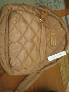 NWT Marc Jacobs Quilted Nylon School Backpack BROWN BUTTER