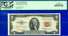 1953-A $2 US Note (( 1 of 6 Consecutive )) PCGS Gem 65PPQ # A58595426A