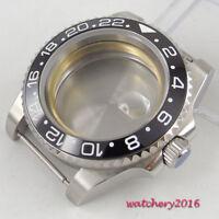 40mm Watch Case Sapphire Glass Stainless Steel Date Fit ETA 2824 2836 Movement