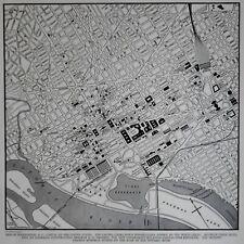L@@K! Vintage 1942 World Atlas City Map Washington DC World War WWII US Capitol