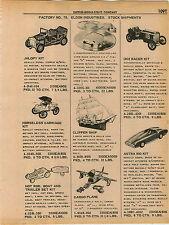 1961 ADVERT Eldon Toys Toy Jalopy 1908 Race Car Astra 900 Enterprise Airplanes