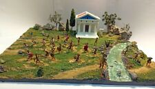 Greek Battle 1:72 DIORAMA Painted Spartan Athenian etc Temple Handmade