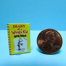 Dollhouse Miniature Replica of Diary of a Wimpy Kid Dog Days ~ B065
