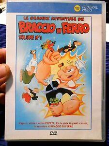 DVD USATO - LE GRANDI AVVENTURE DI BRACCIO DI FERRO - VOLUME 1°