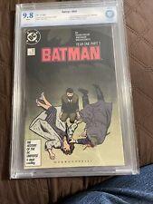 "Batman # 404 CBCS 9.8 WP Frank Miller ""Year One"" Story Begins, DC 1987 (Not CGC)"
