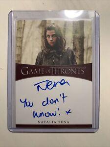 2020 Game of Thrones Season 8 * NATALIA TENA INSCRIPTION AUTOGRAPH AUTO