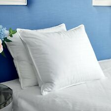 2 Pack White Goose Down Feather Pillows Bed Pillow Pillow-in-a-pillow Design