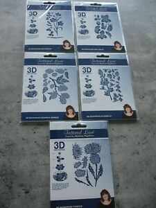 5 x Tattered Lace Flower 3D Decoupage Dies New SEALED SEE LISTING BELOW