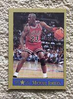 MICHAEL JORDAN 1990-91 Starz Promo Gold 🥇 Chicago Bulls Basketball Card HOF 🏀