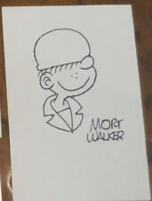 Mort Walker creator Beatle Bailey sketch signed autographed large index card