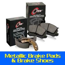 Front + Rear Metallic Brake Pads & Brake shoes 2SET Fits Ford Escort 1994-1996
