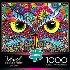 BUFFALO GAMES PUZZLE THE VIVID COLLECTION OWL EYES 1000 PCS #11706