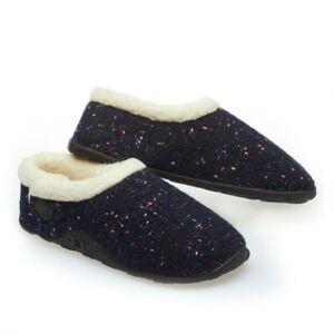 Homeys Ladies Luna Navy Fleck Slippers NEW