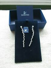 Swarovski dangle crystal earrings signed Nib with booklet