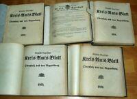 5x Kreis-Amts-Blatt Regensburg Oberpfalz 1895 1896 1898 1899 Chronik Neumarkt