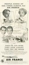 1955 Air France Airlines Super G Constellations Celebrities PRINT AD