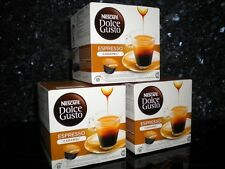 DOLCE GUSTO 48 ESPRESSO CARAMEL PODS 3 X 16 NEW COFFEE FREE P&P