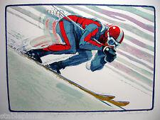 1979 DOWNHILL SKIER * JIM JONSON original SIGNED LITHOGRAPH Mint Condition