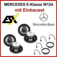 Lautsprecher Set ESX QE120 für Mercedes E-Klasse W124 1984 - 1997 vor und hinten