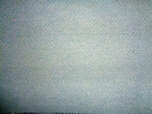 40cm square Isles Harris Parisien blue Herringbone Tweed Wool Touch Fabric