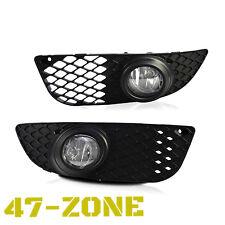 For 2007-2012 Mitsubishi Lancer Clear Lens Chrome Housing Fog Lights Lamps Kit