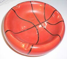 NEW BASKETBALL BALL CERAMIC ASHTRAY UNUSED VERY NICE!!!!!!