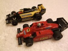 tyco afx slot car f -1 indy # 1 armor all, # 2 fiat 440x2, super g,chassis fast!
