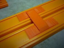 2 Double Lane Connector Hot Wheels Orange Raceway Race Builder Track Essentials