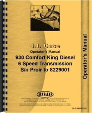 Case 930 Tractor Owners Operators Manual Ck Comfort King Sn Prior To 8229001