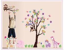 Wandtattoo Kinderzimmer Elefant Tiere Affe Baum Katze Giraffe Aufkleber Sticker