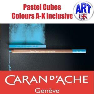 Caran D'Ache Artists Soft PASTEL CUBES colours A-K drawing sketching lightfast