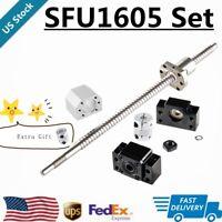 BallScrew SFU1605 RM1605 250mm-1550mm+BF/BK12+6.35*10mm Coupler+Housing CNC Set