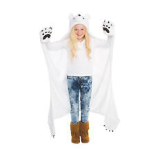 Wild Things Snowcap Polar Bear Blanket, Hooded Animal Blanket by Fin Fun