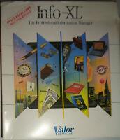 Info-XL, by Valor Software. Information management for IBM & compatible PCs 1988