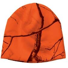 "Blaze Orange Camo Camouflage Realtree AP All Purpose 8"" Beanie Hat Hunting"