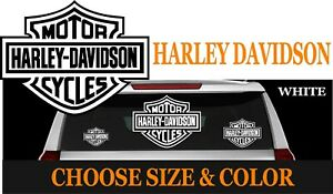 D4W HARLEY DAVIDSON WINDOW VINYL GRAPHIC DECAL MOTORCYCLE TRUCK CAR  FREE SHIP