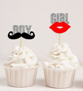 Darling Souvenir| Baby Shower Its Twin (Boy & Girl) Cupcake Toppers|-Cjs