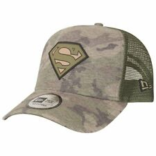 New Era A-Frame Adjustable Trucker Cap - Superman wood camo