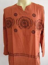 OM Ganesh Men's T Shirt Hindu India Meditation orange GT48 Free Shipping