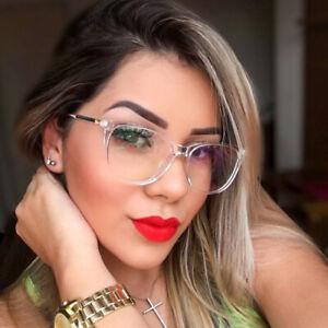 Fashion Blue Light Blocking Glasses Women TR90 Round Eyeglasses Frames Women