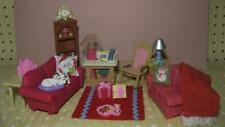 Fisher Price Holiday Christmas Doll House Living Room Furniture Sofa Playset