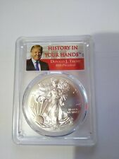 2017  PCGS MS70 FIRST DAY OF ISSUE TRUMP LABEL  1 OF 2000  VERY RARE