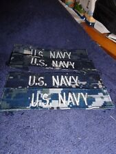 Nwu Usn Navy Digital Aor Enlisted Us Navy Patch Set Lot Of x 5 Used