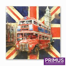 Primus Pride of London 3D Hand Crafted Metal Wall Art Retro Double Decker