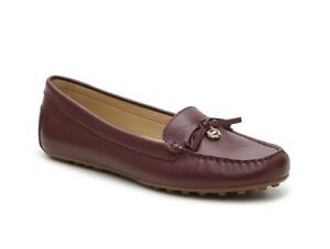 Women MK Michael Kors Everett Moccasin/Loafers Tumbled Leather Oxblood