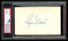 New York Yankees Great ROGER MARIS Autographed 3x5 Card - PSA 9 - MINT